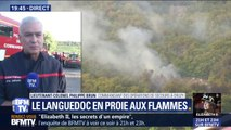 """Selon les pompiers, l'incendie dans l'Hérault est """"maîtrisé"""" mais il est """"hors de question de dire qu'il est éteint"""""""