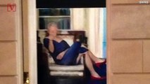 Photo Taken Inside Jeffrey Epstein's NY Mansion Shows Portrait of Bill Clinton in Blue Dress & Red Heels