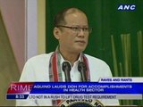 Aquino lauds DOH for accomplishments in health sector
