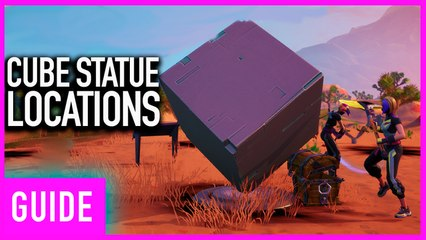 Fortnite Season X: Cube Statues Near Desert And Lake Location Guide   Worlds Collide Challenges