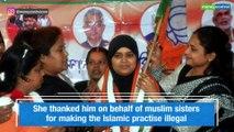 Triple talaq petitioner Ishrat Jahan ties rakhi to PM Modi