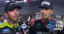 Crafton, Friesen settle on-track incident at Bristol