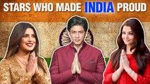 Aishwarya, Priyanka, Shahrukh, Sushmita | Bollywood Stars Who Made India Proud | Independence Day