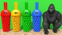 Learn Colors Bunny Mold Outdoor Sand Playground and Toy Truck Finger Family Song for Kids Children
