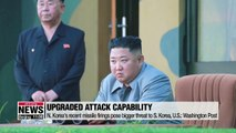N. Korea's recent missile firings pose bigger threat to S. Korea, U.S.: Washington Post