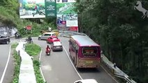 TNSTC LONG BUS Turning in Hairpin Bend -- Private Bus Turning -- Car Problem Drive To Two Wheeler