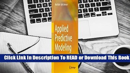 [Read] Applied Predictive Modeling  For Kindle