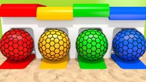 Learn Colors with Squish Ball and Garage Colored Pipe Sand Ground for Kids Children