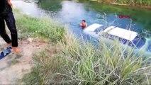 MERSİN Çalınan otomobil, sulama kanalında bulundu