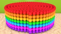 Learn Colors and Number with a lot of 3D Spiral Ball Sand Playground Pretend Play for Kids Children