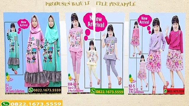 ASLI...!!! WA 0822-1673-5559, Wholesale Fashion Anak Merk Little Pineapple & London Kids