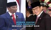 Jokowi Sapa Sandiaga Sebagai Sahabat Baik di Sidang Tahunan MPR 2019