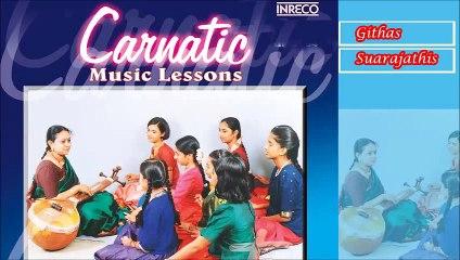 CARNATIC VOCAL  CARNATIC MUSIC LESSONS VOL-2  SHUBHA GANESAN & STUDENTS  JUKEBOX