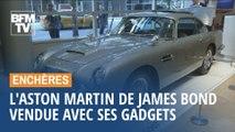 Mitrailleuses, bouclier pare-balles, coupes-pneus… L'Aston Martin de James Bond s'est vendue aux enchères avec tous ses gadgets
