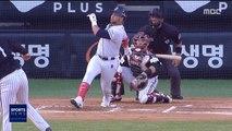 [스포츠 영상] 두산 페르난데스 '가족 응원 받은' 홈런