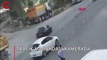 İstanbul'daki trafik magandası böyle görüntülendi