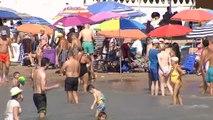 Altas temperaturas y playas a rebosar