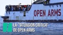"""La """"situación muy crítica"""" del Open Arms frente a la costa italiana"""