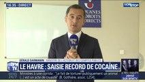 """Saisie record de cocaïne: """"L'année dernière, 100 tonnes de drogues ont été saisies"""", déclare Gérald Darmanin, ministre de l'action et des comptes publics"""