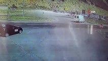 Bayburt'ta 1 kişinin öldüğü 2 kişinin de yaralandığı trafik kazası kamerada