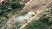Giugliano (NA) - Roghi di rifiuti, denunciati 32 proprietari di terreni (16.08.19)
