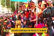 Martín Vizcarra a Confiep: No se puede sacar un proyecto a sangre y fuego