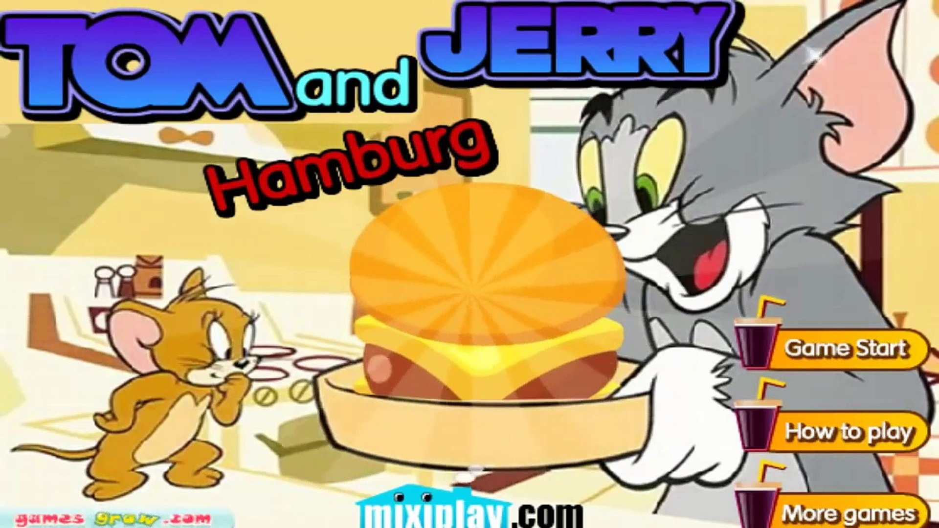Tom and Jerry cooking hamburger games