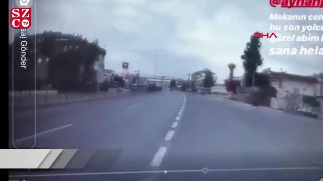 Motosikletli ölüm anını anbean kaydetmiş