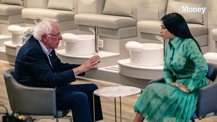 Cardi B and Bernie Sanders got real about taxes, healthcare, and even their nails
