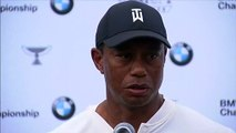 Tiger Woods speaks after the second round of the BMW Championship
