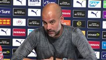 Guardiola shares banter with reporter when pressed about John Stones