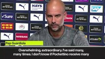 (Subtitled) Guardiola on 'top, top' Pochettino as he hails Spurs' boss as extraordinary