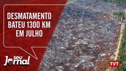 Desmatamento bateu 1300 KM em Julho