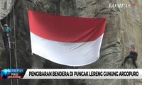 Pengibaran Bendera di Puncak Lereng Gunung Argopuro
