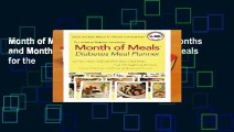 Month of Meals Ultimate Meal Planner: Months and Months of Delicious and Nutritious Meals for the