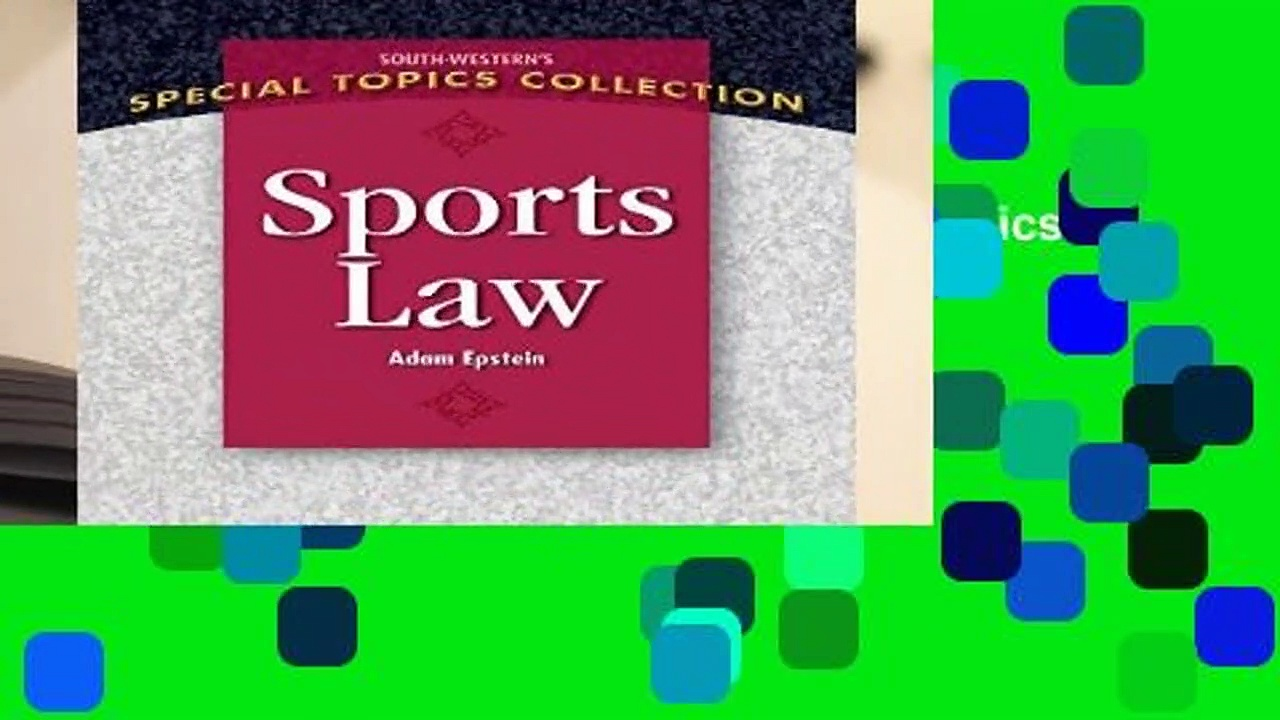 Sports Law (South-Western s Special Topics Collection)