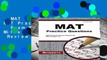MAT Practice Questions: MAT Practice Tests   Exam Review for the Miller Analogies Test  Review