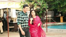 Akshay Kumar and Vidya Balan Promotes Movie Mission Mangal a Sun-N-Sand Juhu