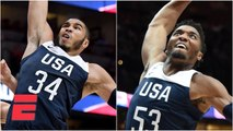 Jayson Tatum and Donovan Mitchell's big dunks lead USA basketball past Spain - FIBA World Cup