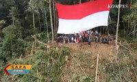 Pengibaran Bendera di Puncak Gunung Entinyuh