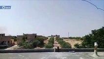 إحدى الغارات الجوية على قرية الدير الشرقي جنوب إدلب