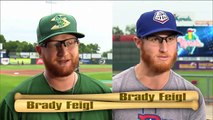 There are two nearly-identical, yet unrelated, minor league baseball pitchers who share the same height (64), same red hair, same black-rimmed glasses, and even the same name, Brady Feigl
