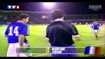 Souvenez-vous, la première sélection et le premier doublé de Zidane en équipe de France