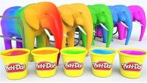 Aprende los Colores - Video Educativo - Aprende Animales con elefantes y Juega Doh para Niños