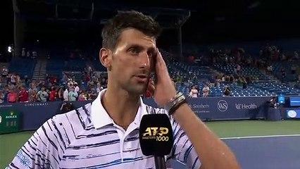 Novak Djokopvic on his quarter-final win over Lucas Pouille