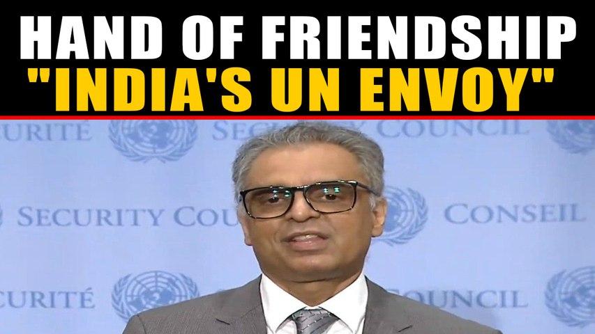 India's UN envoy Akbaruddin shakes hand with Pakistani reporter, video goes viral