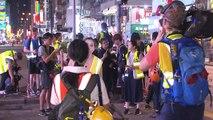 홍콩 일부 시위대, 경찰서 앞에서 경찰과 대치 / YTN