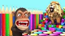 Aprende frutas y Animales con divertidos Monos juegos de PC de estilo - Videos Educativos para Niños