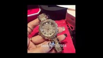 Expensive Luxury Gold Diamond Watches Designs For Women's And Ladies Royal Fashion Trend - 1