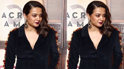 Surveen Chawla stuns in black velvet jumpsuit on Sacred Games 2 screening of;Watch video | FilmiBeat